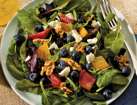 beet blueberry salad